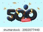 banner with 500 followers thank ... | Shutterstock .eps vector #2002077440