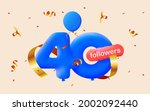banner with 40 followers thank... | Shutterstock .eps vector #2002092440
