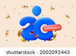 banner with 20 followers thank... | Shutterstock .eps vector #2002092443