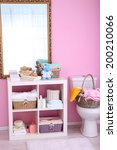 shelves in bathroom  | Shutterstock . vector #200210066