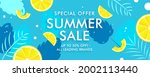 summer end of season sale... | Shutterstock .eps vector #2002113440
