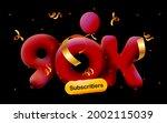 banner with 90k followers thank ... | Shutterstock .eps vector #2002115039