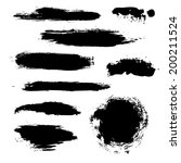 black blobs set  vector... | Shutterstock .eps vector #200211524