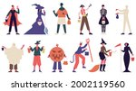 halloween characters. people in ... | Shutterstock .eps vector #2002119560