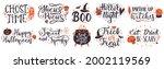 halloween lettering quotes.... | Shutterstock .eps vector #2002119569