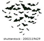 halloween flying bats. spooky...   Shutterstock .eps vector #2002119629