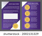 brochure template  two pages ...