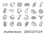 meat products fish poultry... | Shutterstock .eps vector #2002137119