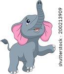 cute elephant cartoon   Shutterstock . vector #200213909