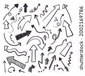 hand drawn doodle scribble line ...   Shutterstock .eps vector #2002169786
