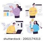 set of business people office...   Shutterstock .eps vector #2002174313