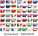 set of world flags.  | Shutterstock .eps vector #200218196