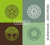 vector abstract emblem  ... | Shutterstock .eps vector #200219366