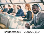 row of business people... | Shutterstock . vector #200220110