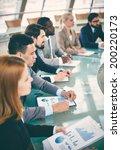 row of business people... | Shutterstock . vector #200220173