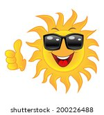 merry sun spectacled a thumb... | Shutterstock .eps vector #200226488