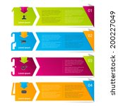 step by step infographics   Shutterstock .eps vector #200227049