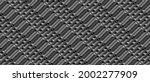 dark black geometric grid...   Shutterstock .eps vector #2002277909