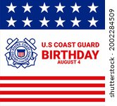u.s coast guard birthday august ...   Shutterstock .eps vector #2002284509