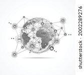 global network connection....   Shutterstock .eps vector #2002289276