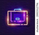 briefcase neon sign. business... | Shutterstock .eps vector #2002312796