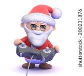 3d Render Of Santa Claus...