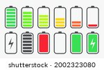 battery charging charge... | Shutterstock .eps vector #2002323080