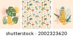 jungle animals and tropic palm...   Shutterstock . vector #2002323620