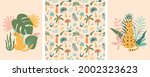 jungle animals and tropic palm...   Shutterstock .eps vector #2002323623