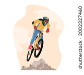 cyclist sportsman character in...   Shutterstock .eps vector #2002327460