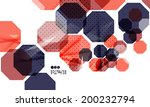 bright red and blue textured... | Shutterstock . vector #200232794
