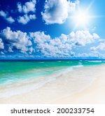 beautiful sunny tropical beach... | Shutterstock . vector #200233754