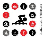 water sport icon for use   | Shutterstock .eps vector #200234669