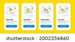 vector set of touchscreen...