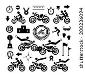 motorcycle symbol on white... | Shutterstock .eps vector #200236094