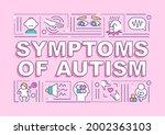 symptoms of autism word... | Shutterstock .eps vector #2002363103
