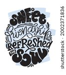 sweet friendship. motivation...   Shutterstock .eps vector #2002371836