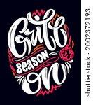 grill bbq season is on....   Shutterstock .eps vector #2002372193