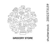 convenience store food abstract ...   Shutterstock .eps vector #2002373159