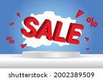 3d sale text banner template...   Shutterstock .eps vector #2002389509
