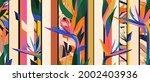 modern geometrical jungle... | Shutterstock .eps vector #2002403936
