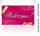 welcome card  note or letter... | Shutterstock .eps vector #200241644
