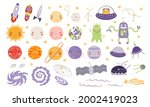 cute space clipart set  planets ...   Shutterstock .eps vector #2002419023