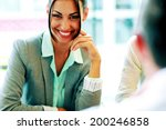 portrait of a cheerful... | Shutterstock . vector #200246858