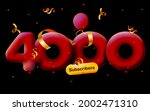 banner with 4000 followers... | Shutterstock .eps vector #2002471310