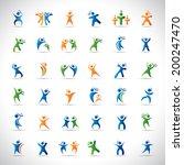 abstract human symbols set.... | Shutterstock .eps vector #200247470