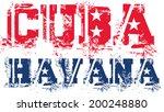 cuba havana  text flag vector... | Shutterstock .eps vector #200248880