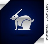 Silver Easter Rabbit Icon...