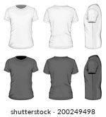 men's white and black short...   Shutterstock .eps vector #200249498