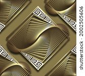 3d Gold Fractals Seamless...